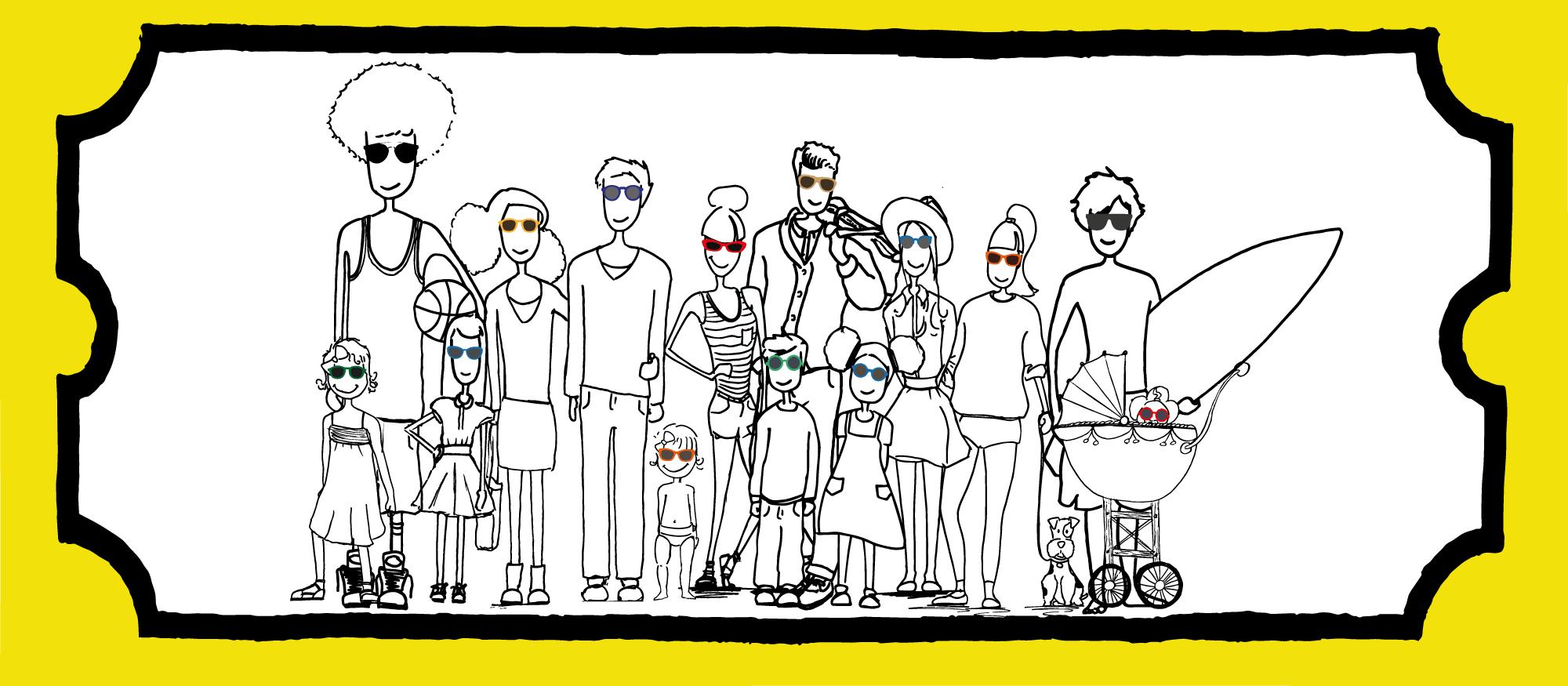 Tous les personnages jeunes opticia